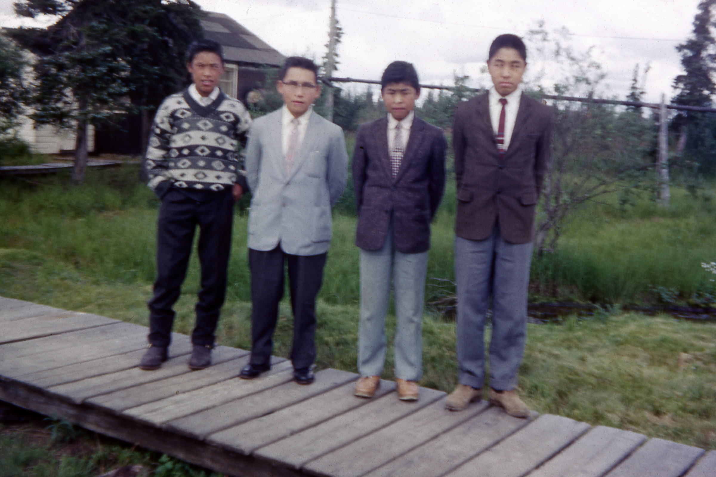 1964 John Fox and boys