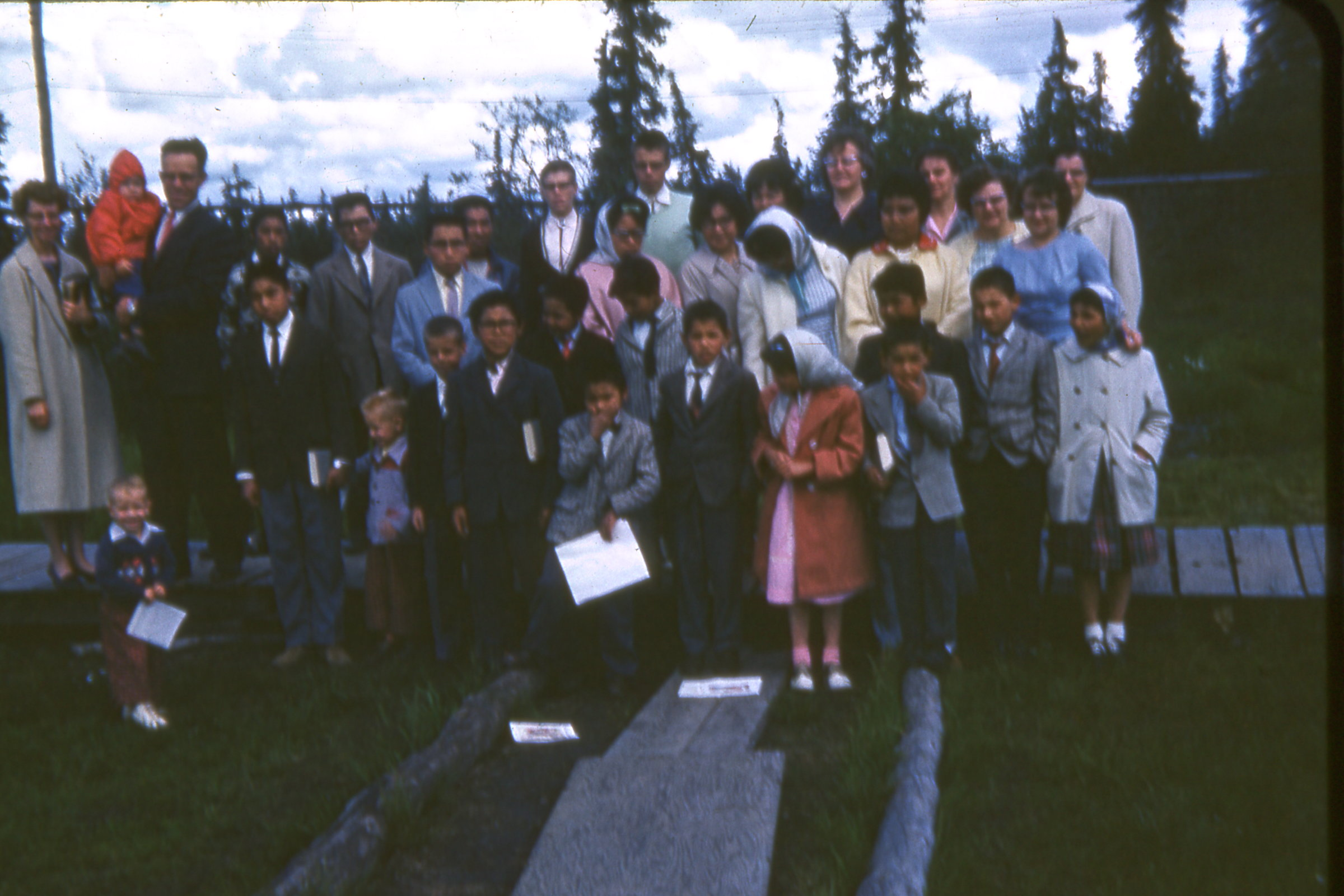 1964 MCH Children and Staff