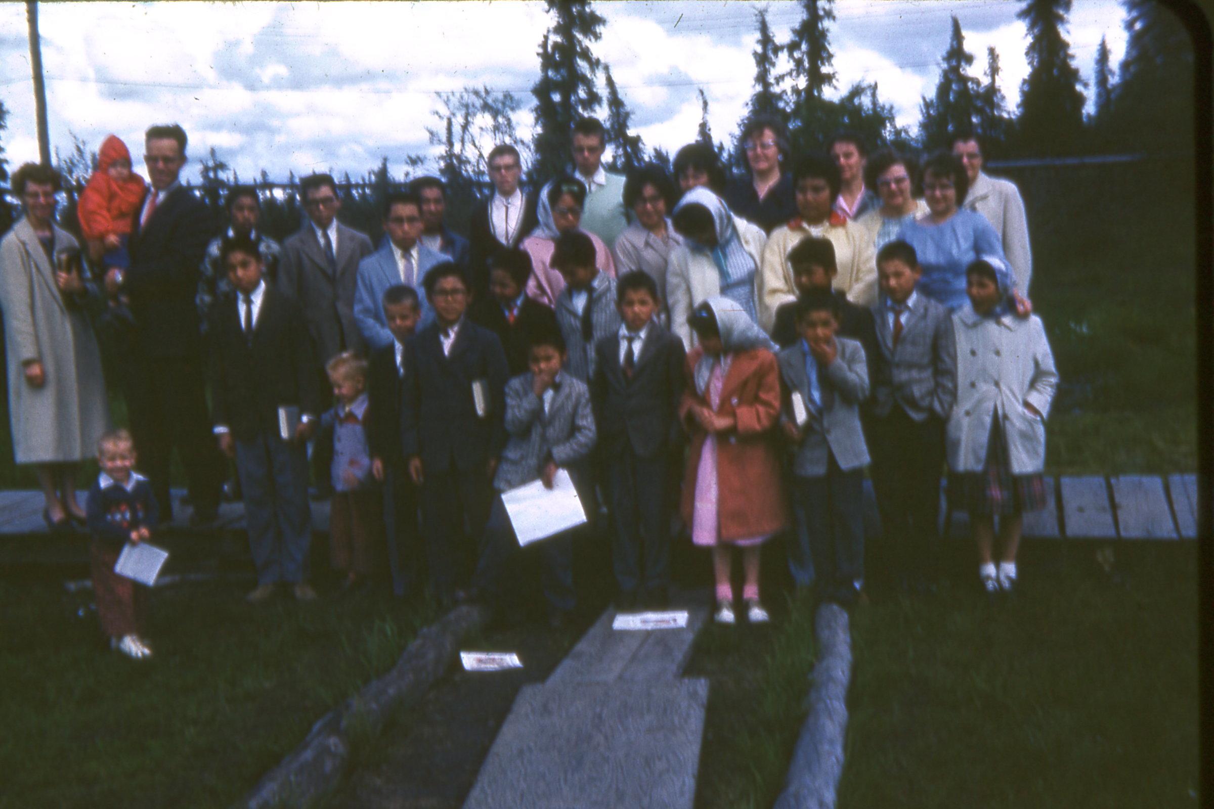 1964 MCH Children and Staff