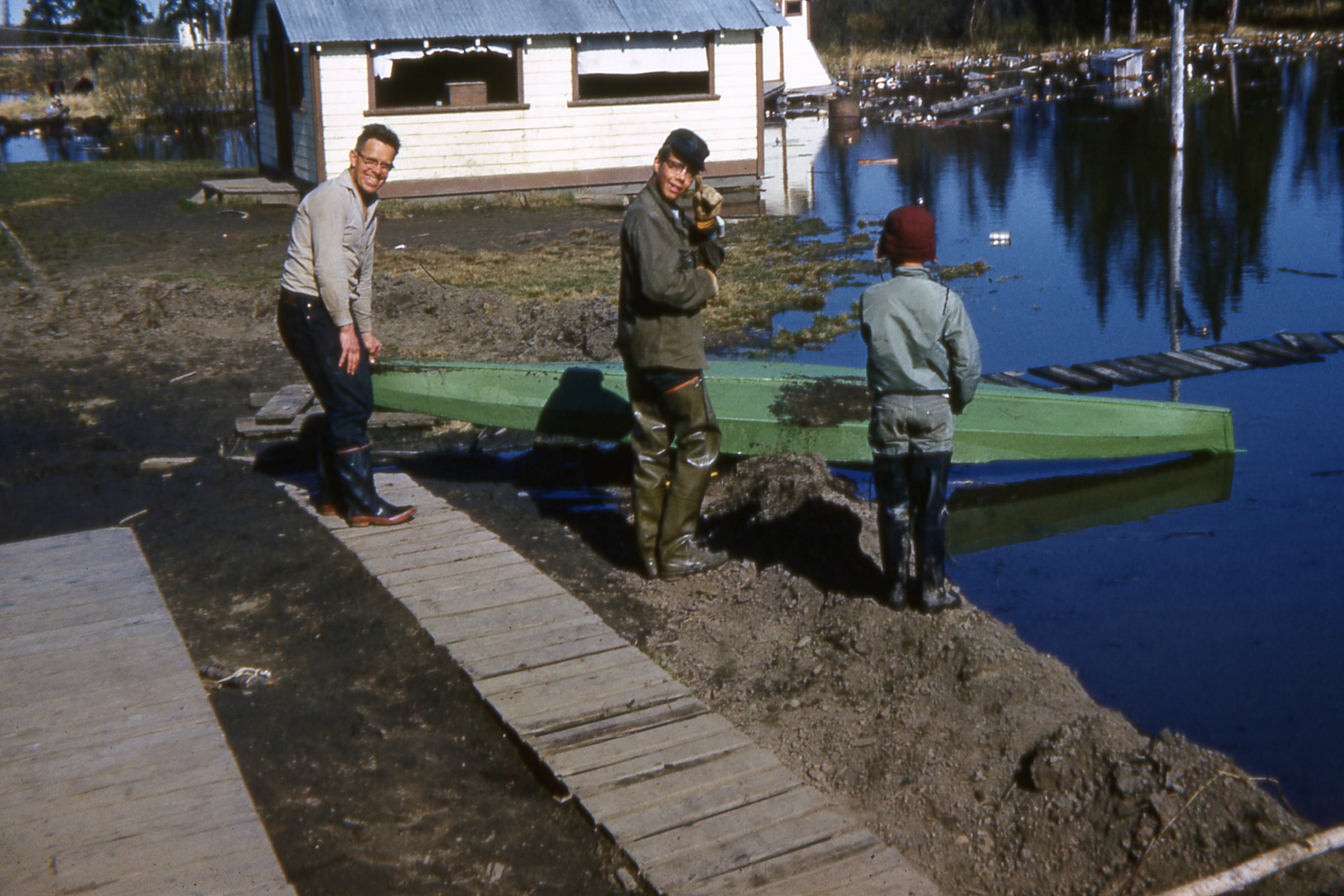 1964 Spring flood with Stan