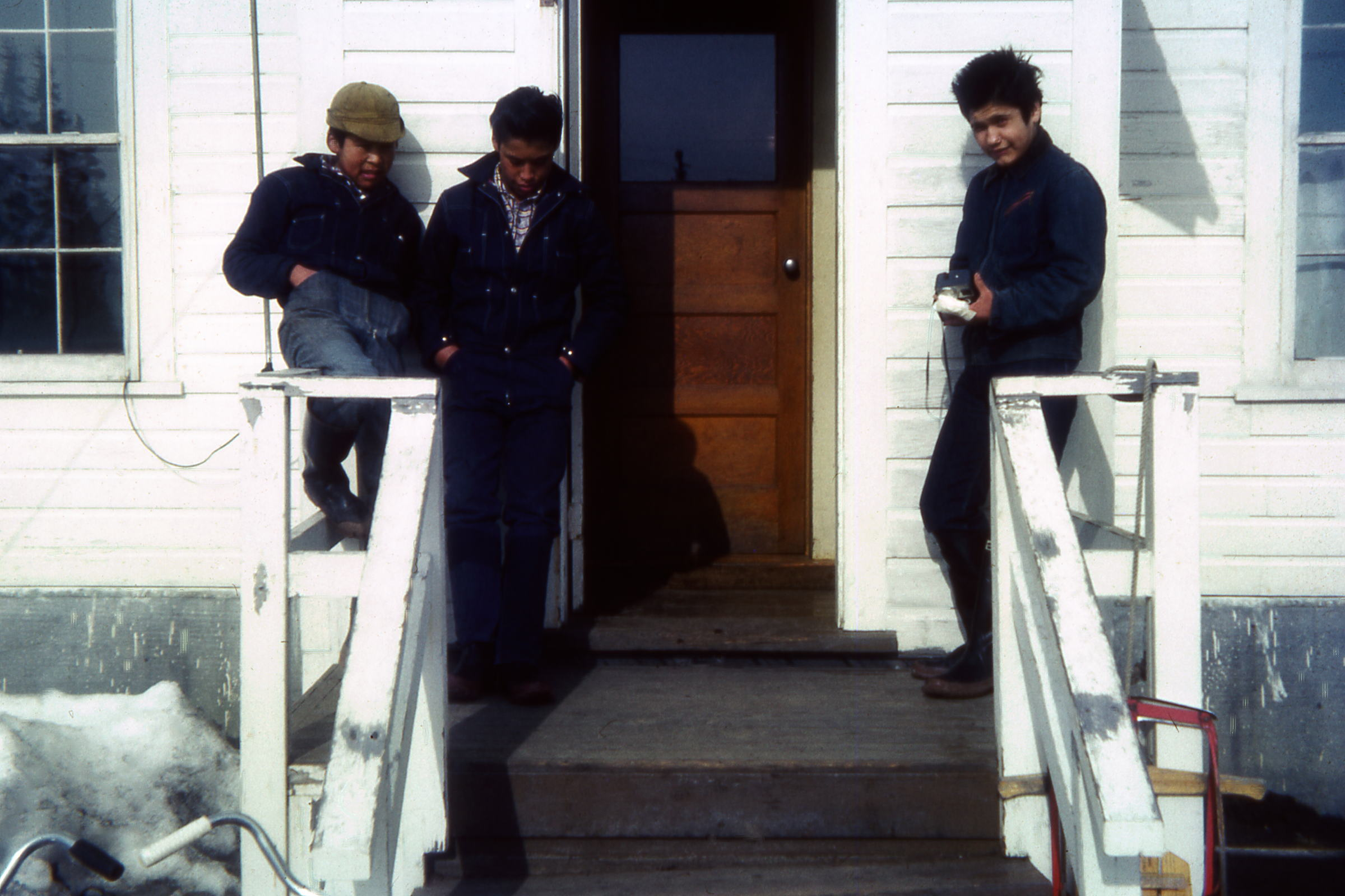 1965 Boys on front pourch of Sups house