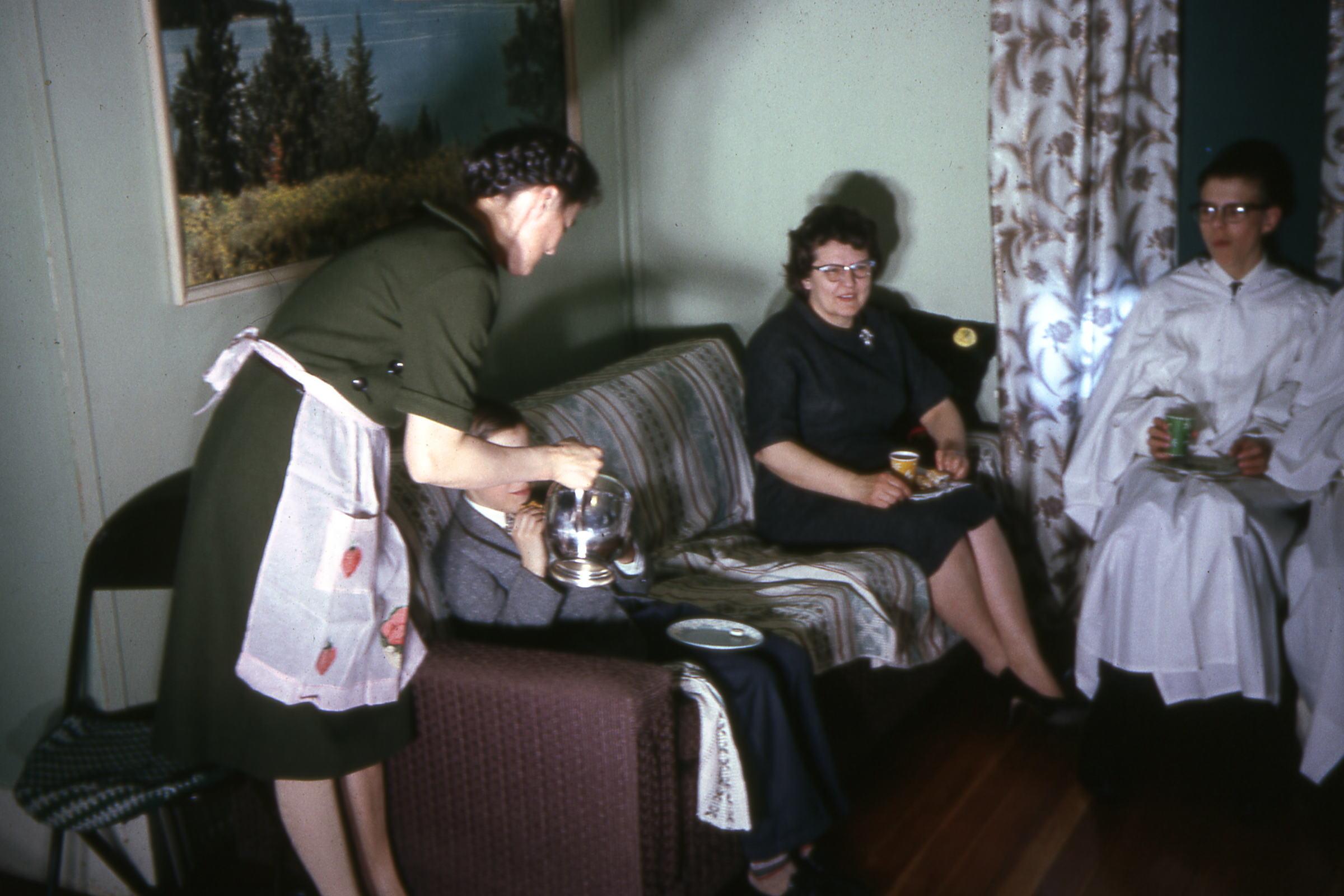 1965 Confirmation class reception
