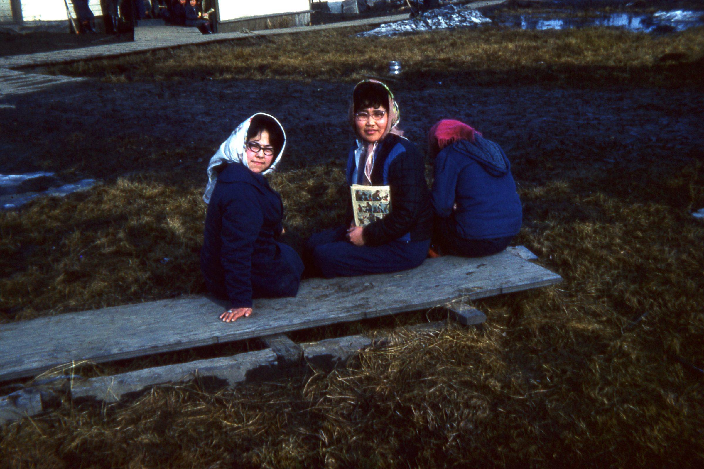 1965 Sitting on walk